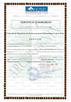 Example Radio Type Approval Certificate for Benin