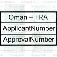 Example Radio Type Approval Label for Oman